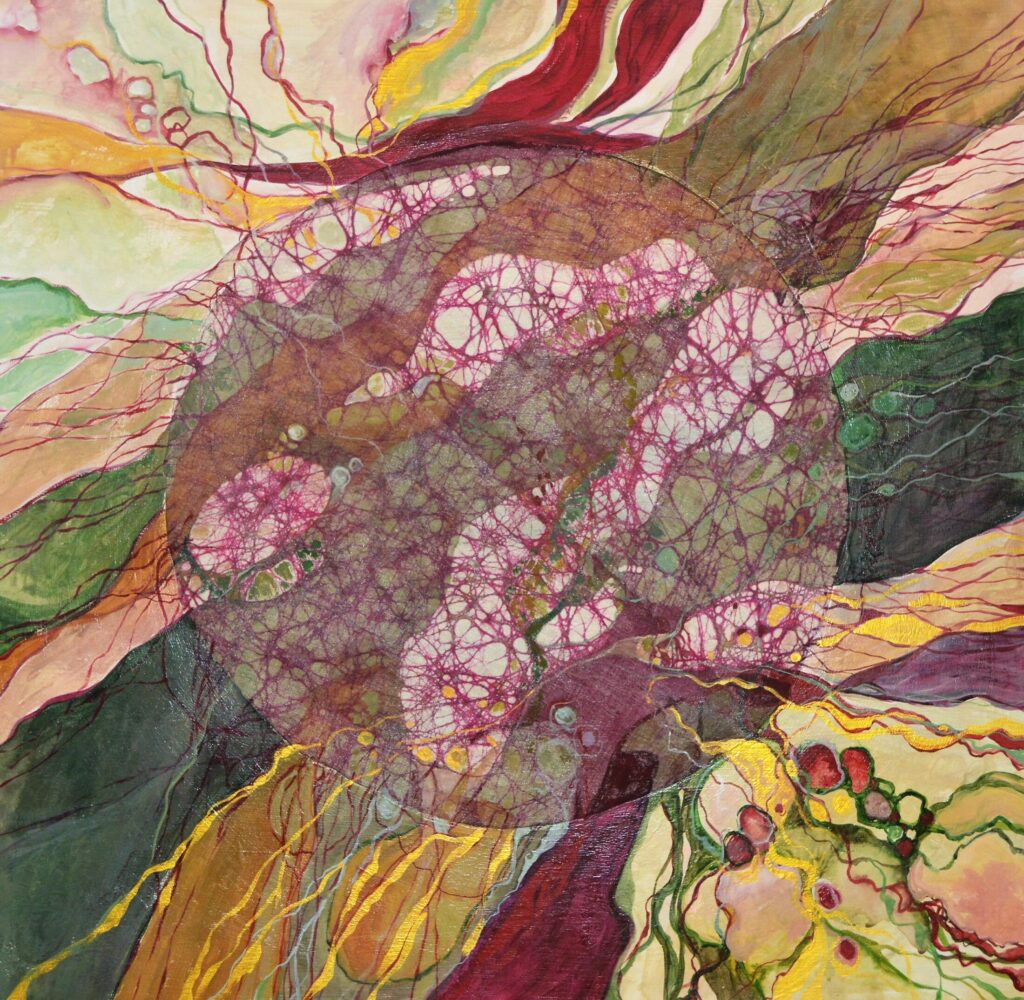 Abstract Mixed Media by Barb Loken.