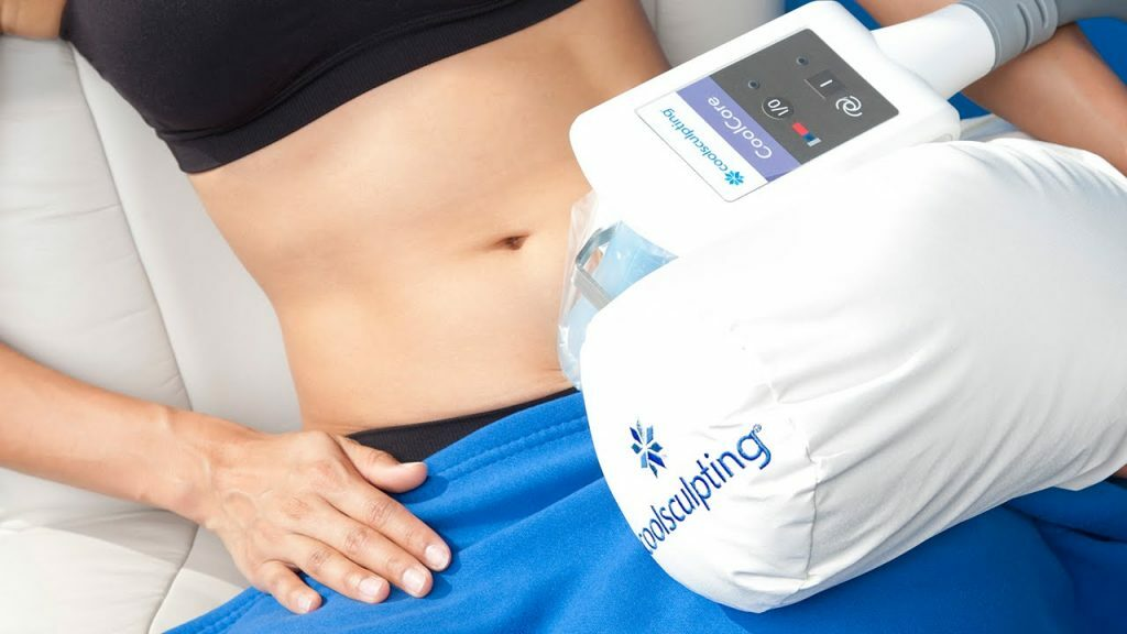 Coolsculpting technology, photo provided by Maine Laser Skin Care.