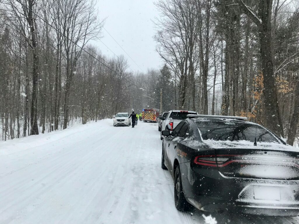 The Kennebec County Sheriff's Office and Belgrade Fire Department responded Monday to a report of a head-on collision on Location Road in Belgrade.