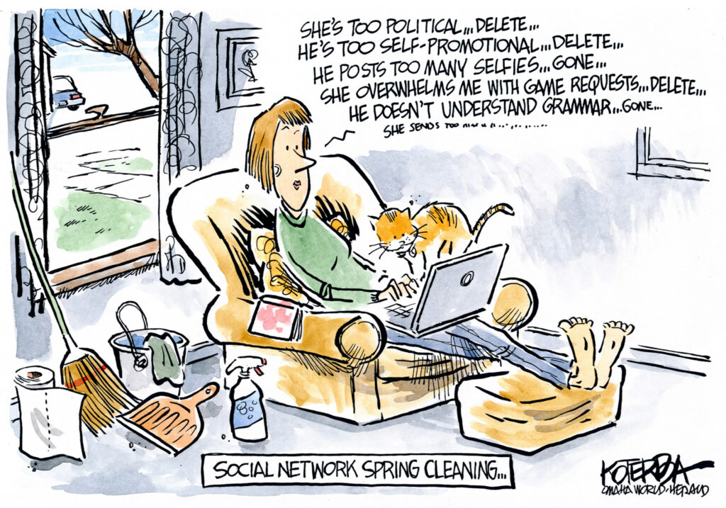 "Jeff Koterba March 22, 2015""Facebook social network spring cleaning"""