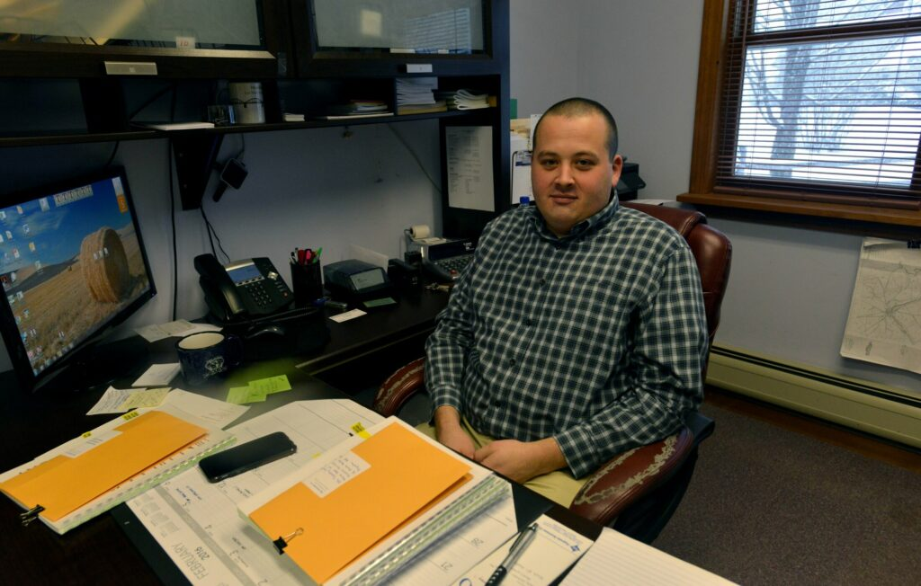 Norridgewock Town Manager Richard LaBelle, shown in 2016 at his office, said Monday an off-the-cuff remark about not having to work Columbus Day while having to work on Indigenous Peoples Day had been blown out of proportion on social media.