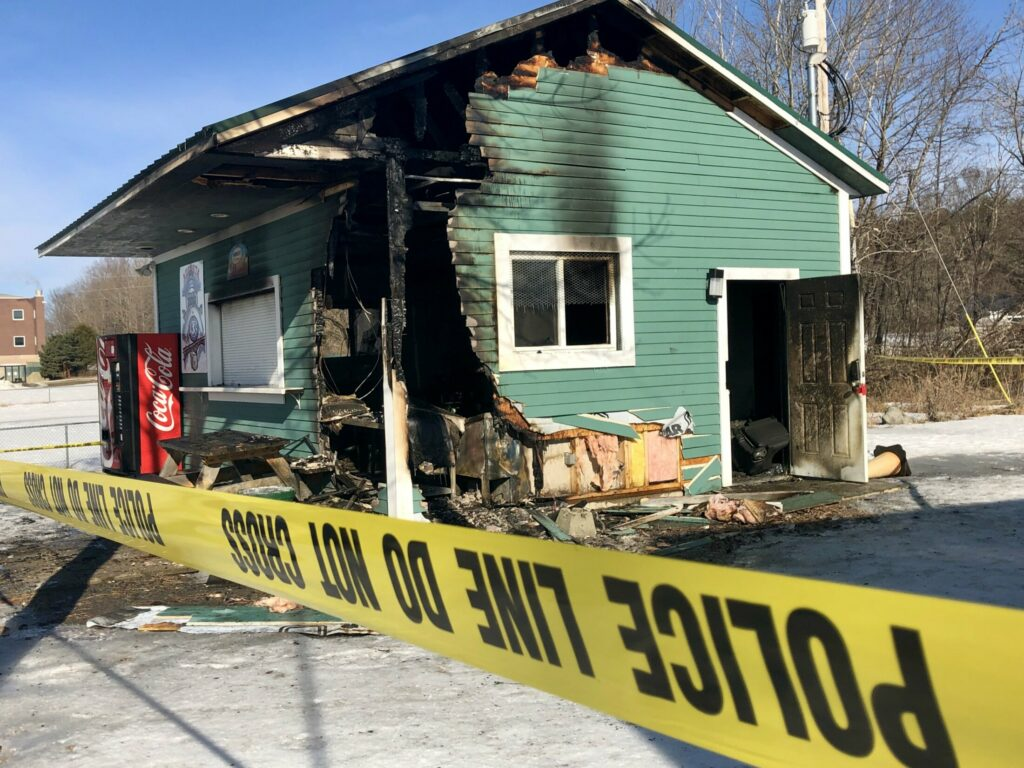 A concession stand at the Augusta Little League field off Piggery Road was damaged by fire Monday night. Two more vandalism incidents have occurred at the site since then, Augusta police said.