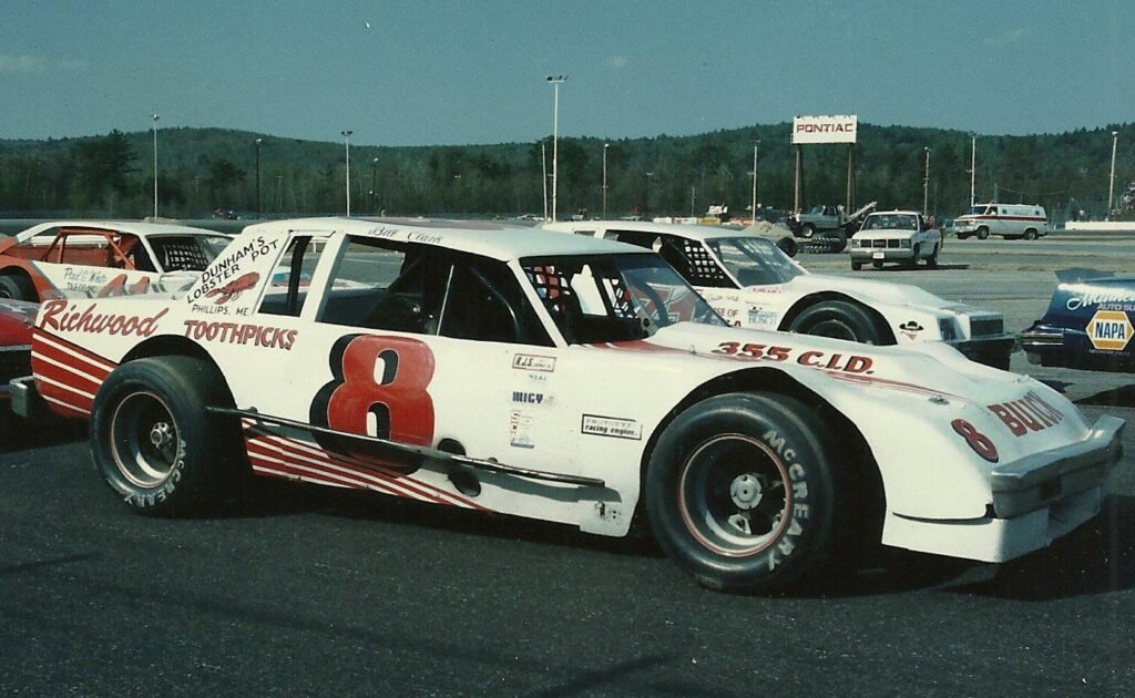 Farmington's Billy Clark lines up for a race in the 1980s at Oxford Plains Speedway, a track where he won 21 times during a Hall of Fame career.