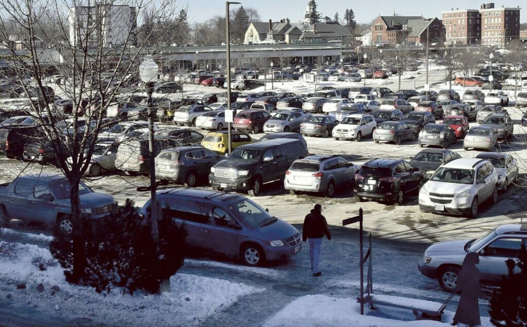 WATERVILLE,  ME-  JANUARY 17: Parking in the Concourse in Waterville as seen on Thursday, January 17, 2019, will remain the same and not be altered pending other changes in road traffic and parking planned for downtown Waterville. (Morning Sentinel photo by David Leaming/Staff Photographer)