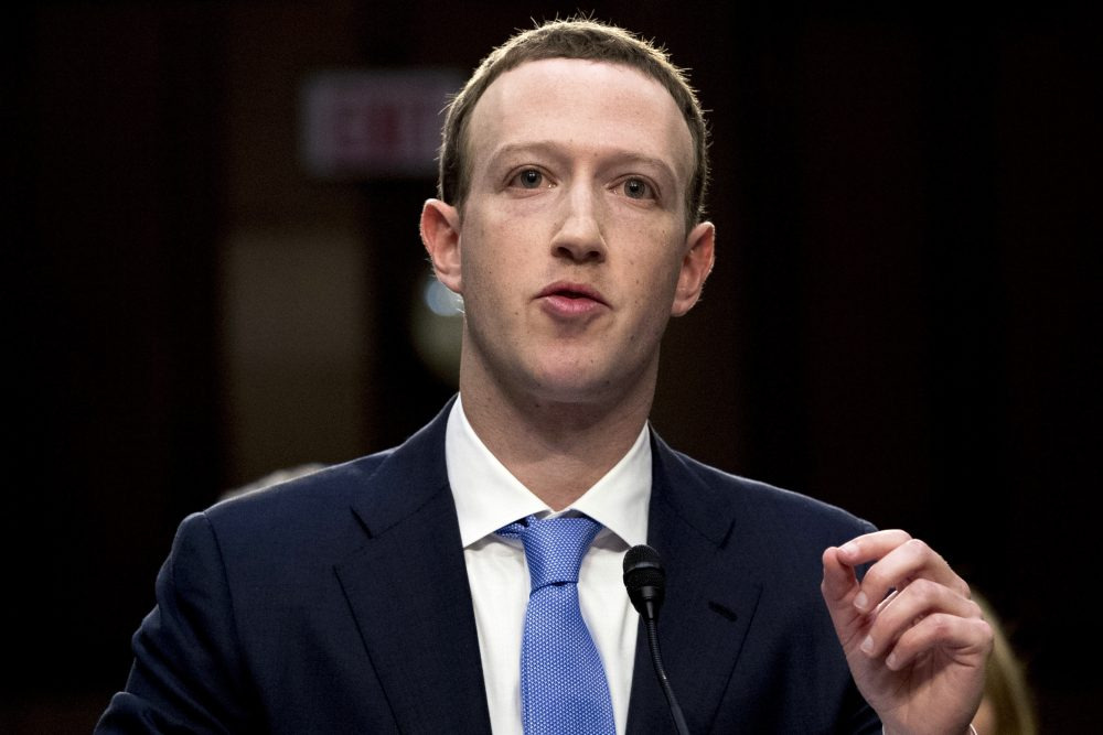 Facebook CEO Mark Zuckerberg testifies before a joint hearing of the Commerce and Judiciary Committees on Capitol Hill in Washington, about the use of Facebook data to target American voters in the 2016 election in April, 2018. Zuckerberg said Facebook will start to emphasize new privacy-shielding messaging services, a shift apparently intended to blunt both criticism of the company's data handling and potential antitrust action.