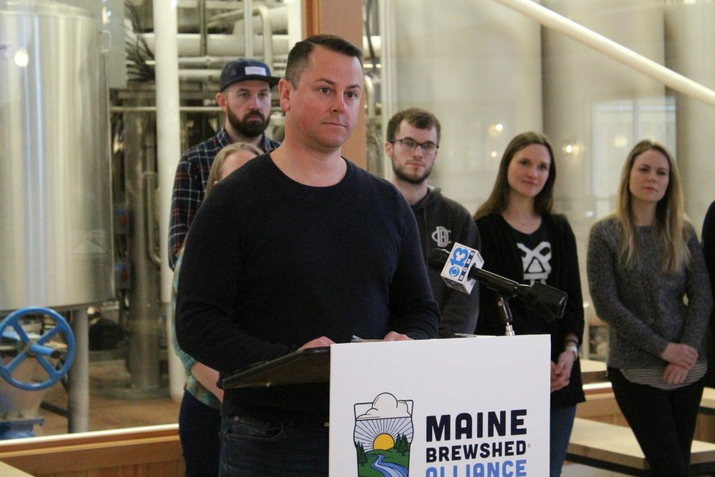 "Dan Kleban, founder of Maine Beer Company, urges other brewers to help protect the state's waterways because ""once it reaches a tipping point it's very hard to go back,"" he said at a news conference Wednesday."