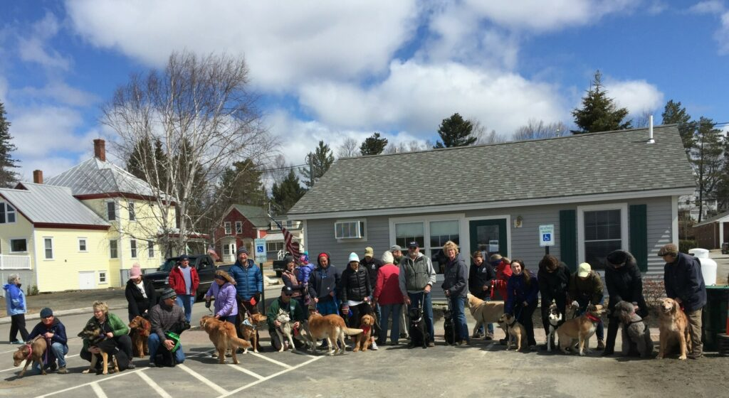 Participants gather for the 2018 Best Dog on Earth event in Rangeley.