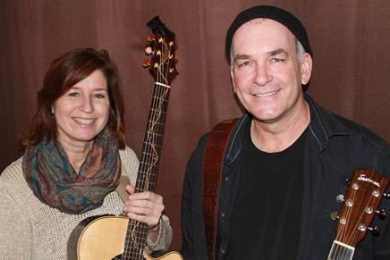 Katie Daggett and Ed Desjardins will perform March 18 at Slates Restaurant in Hallowell.