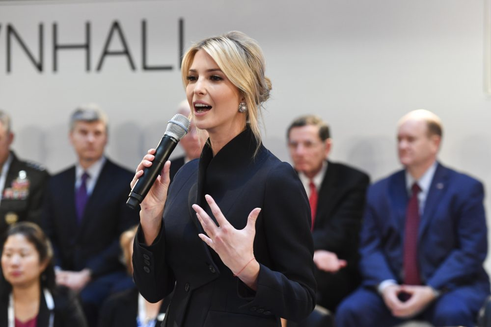 Ivanka Trump daughter of the US President, addresses at a meeting during the Munich Security Conference in Munich, Germany in Feb. 2019. President Donald Trump's 2020 budget proposal will include $100 million for a global women's fund spearheaded by his daughter Ivanka Trump.