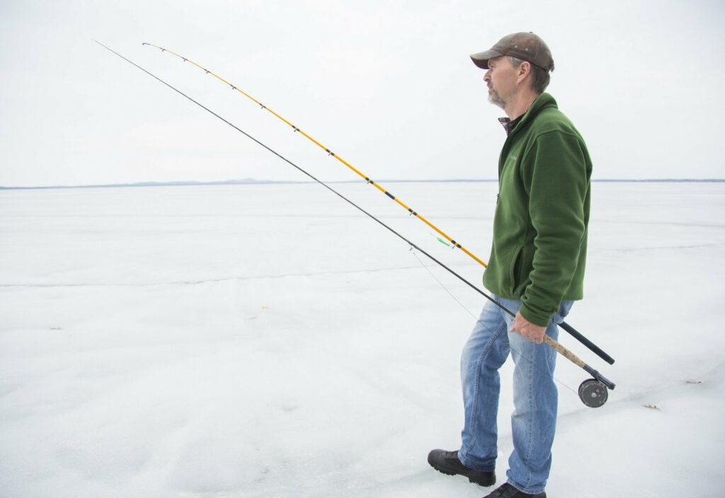 "Jim Goodale of Standish, who caught a couple of ""trophy"" togue while ice fishing this winter, is excited for open water season and hopes the trend of landing big fish continues."