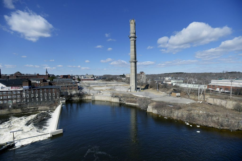 The Maine Energy trash incinerator was located on this 8½-acre riverfront property in Biddeford, shown in 2014. It was removed in 2012, and the city's downtown has seen a development boom in the years since.