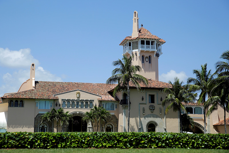 President Trump's Mar-a-Lago estate in Palm Beach, Florida, photographed in 2017.