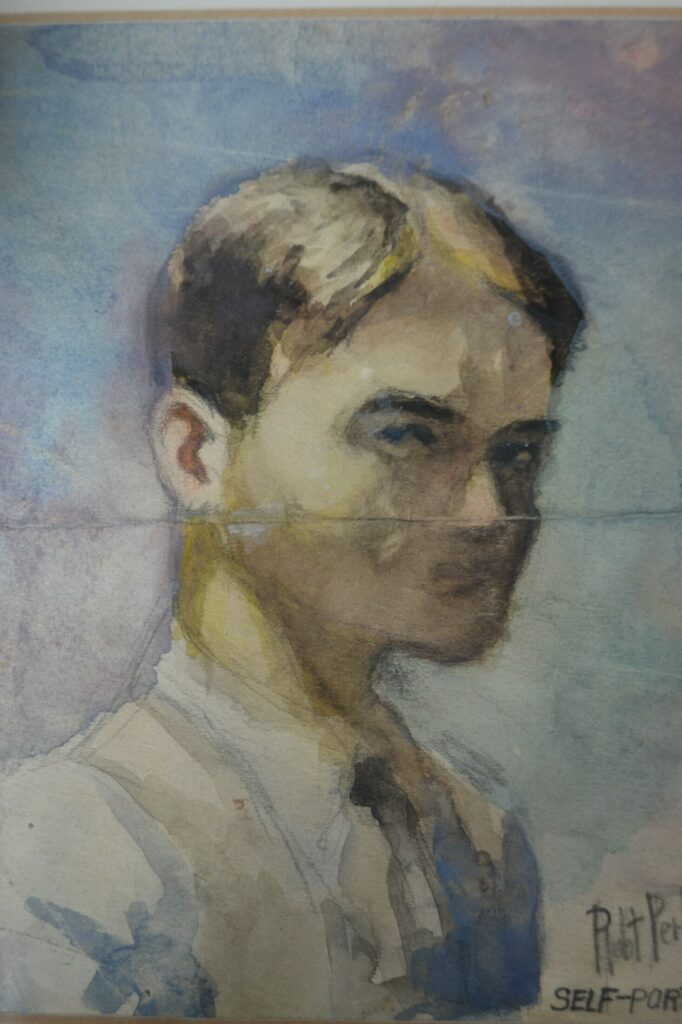 A self portrait by Suzanne Guston's late uncle, Robert Perkins.