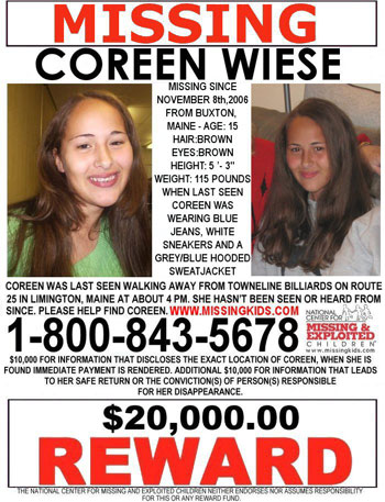 Family of missing Buxton girl offers $20,000 reward - Portland Press