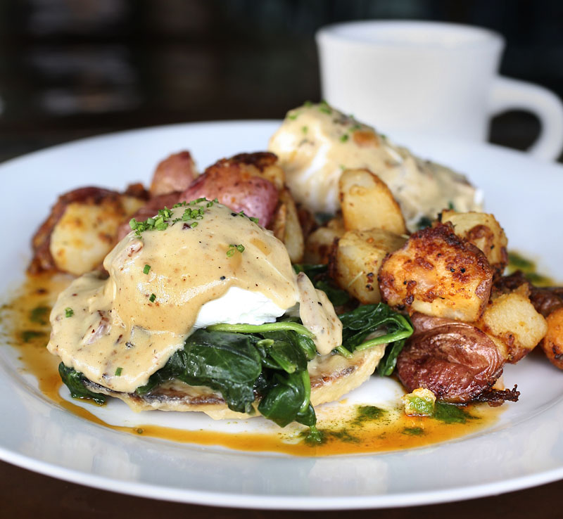 The Porthole has high hopes for its eggs Florentine, the Portland restaurant's entry in the Incredible Breakfast Cook-off, to be held March 5 at the Sea Dog Brewing Company in South Portland in conjunction with Maine Restaurant Week.