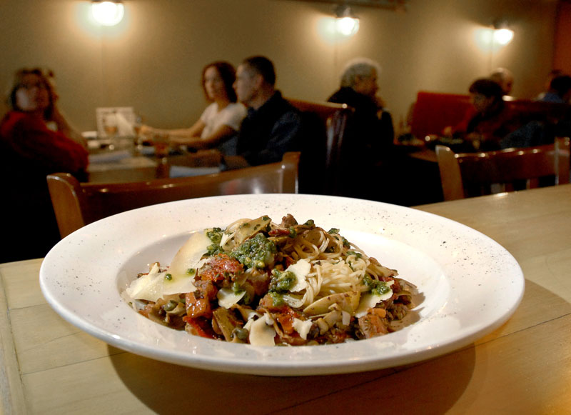 Shay's Grill Pub in Portland will serve this Mediterranean pasta dish for its vegetarian customers during Maine Restaurant Week.