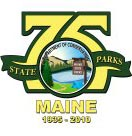 Maine Parks 75th anniversary logo