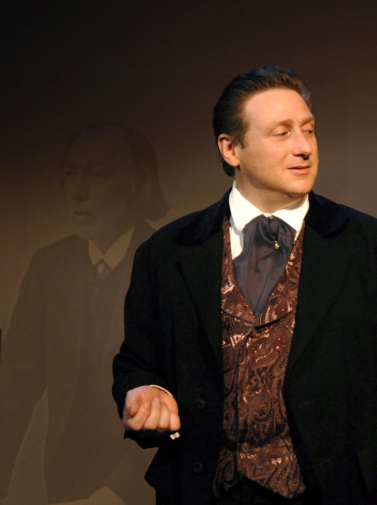 "Mark Honan stars as Sir William Topaz McGonagall, a justifiably maligned 19th-century poet, in the Portland Stage Company's ""The Real McGonagall."""