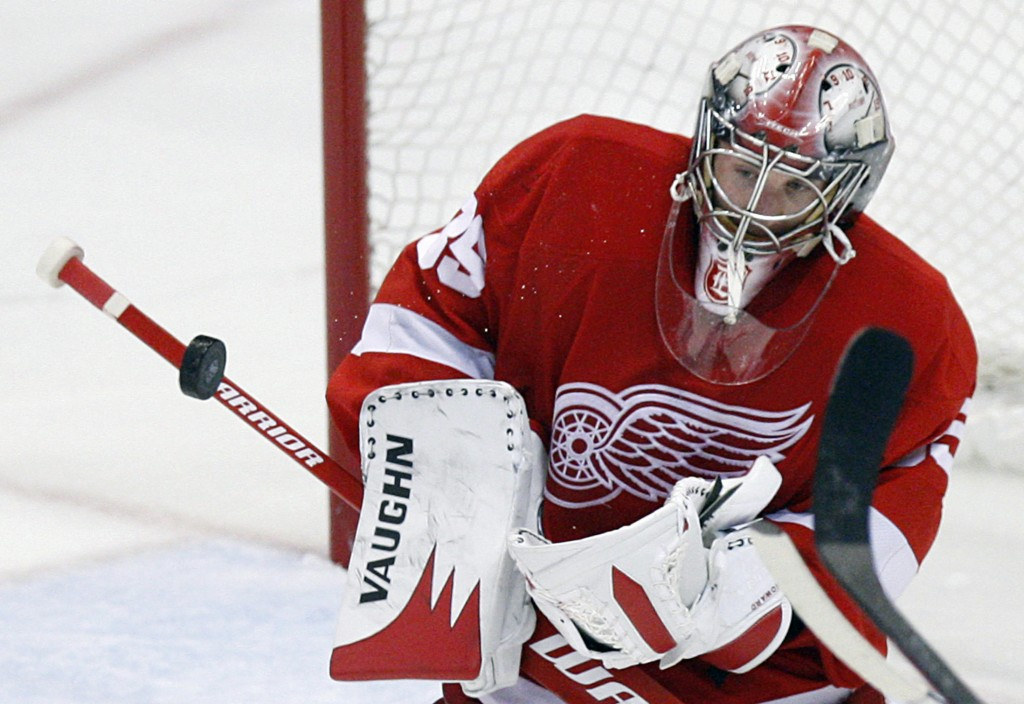 Jimmy Howard has emerged as the Detroit Red Wings' No. 1 goalie this season after four seasons in the AHL and three at Maine. In 43 games with Detroit, he's 21-13-8-1.