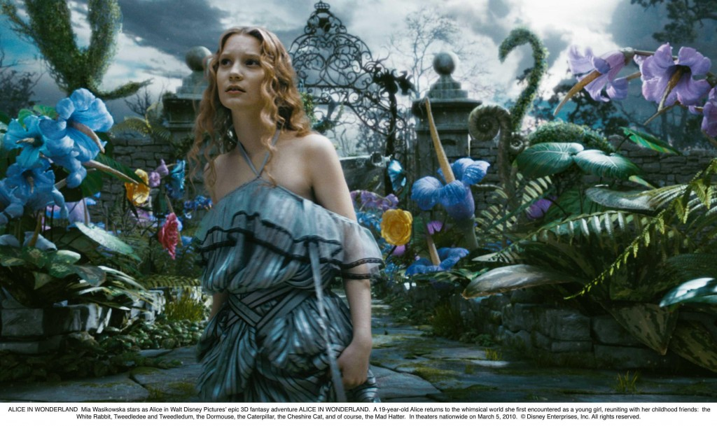 "Mia Wasikowska has the title role in ""Alice in Wonderland,"" directed by Tim Burton."