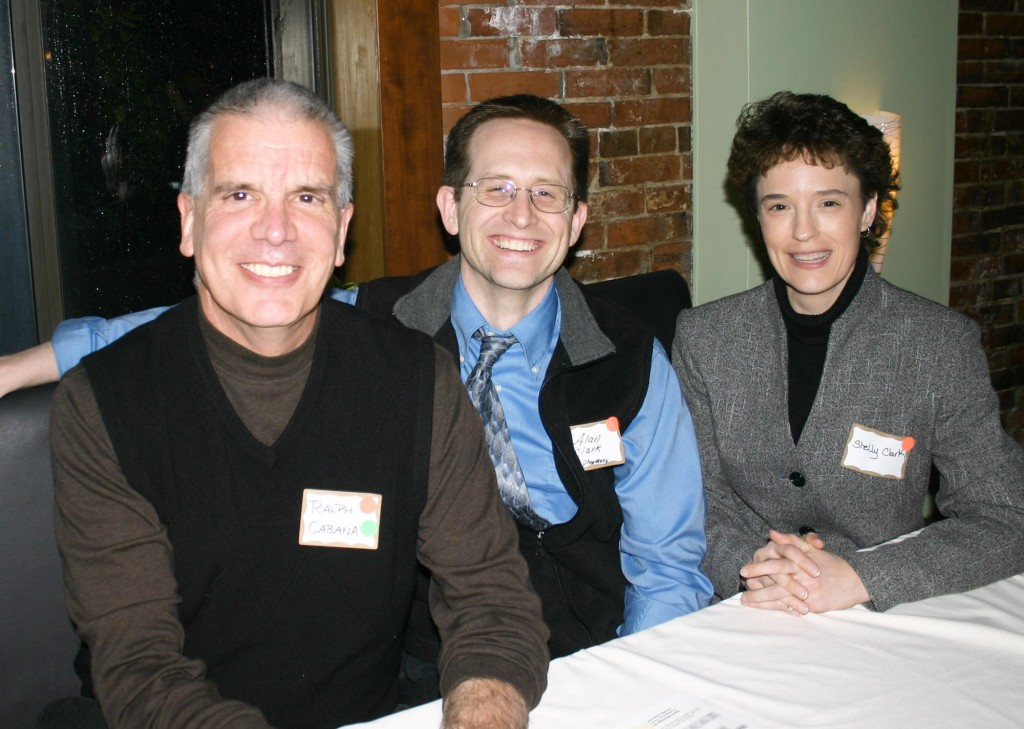Ralph Cabana and Alan Clark of CVS and Shelly Clark of the Maine Real Estate and Development Association.
