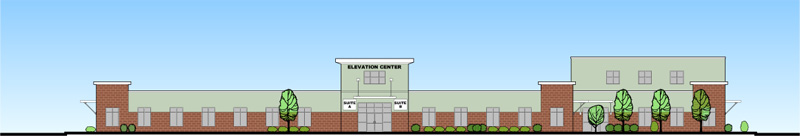 Artist's rendering of building as seen from Route 1.