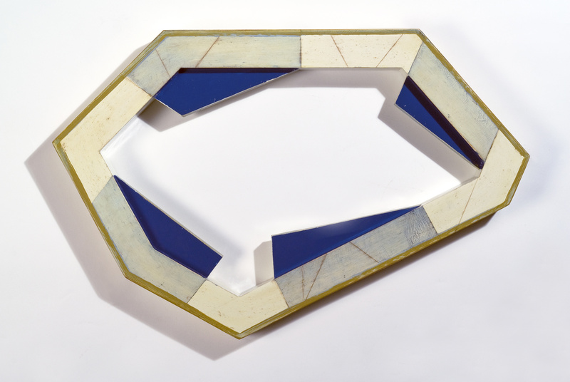 """Segment 61,"" 2007, oil and enamel on pine by Frederick Lynch at the Portland Museum of Art."
