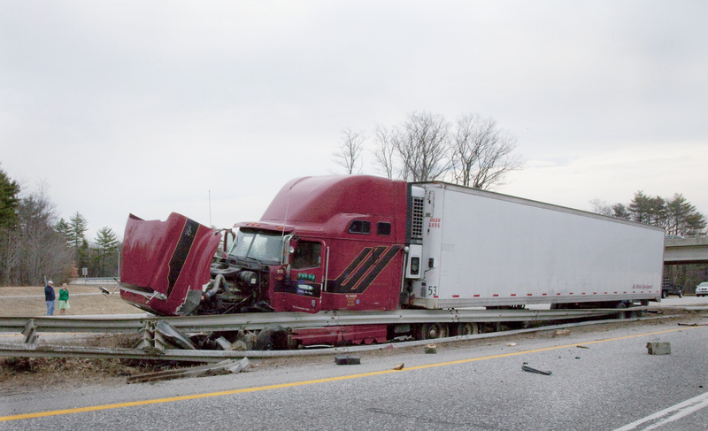 Maine State Police charged Kevin Fedorciw of New Jersey with driving while fatigued and failing to keep his logbook current after the truck he was driving to Presque Isle with a load of flowers crashed Monday in the median on the Maine Turnpike. Police say Fedorciw, 29, fell asleep at 12:30 p.m. while driving between Exit 46 in Portland and Exit 47 in Westbrook. No other vehicles were involved and nobody was injured, but the state Department of Environmental Protection had to clean up soil contaminated by fluids that leaked from the truck.