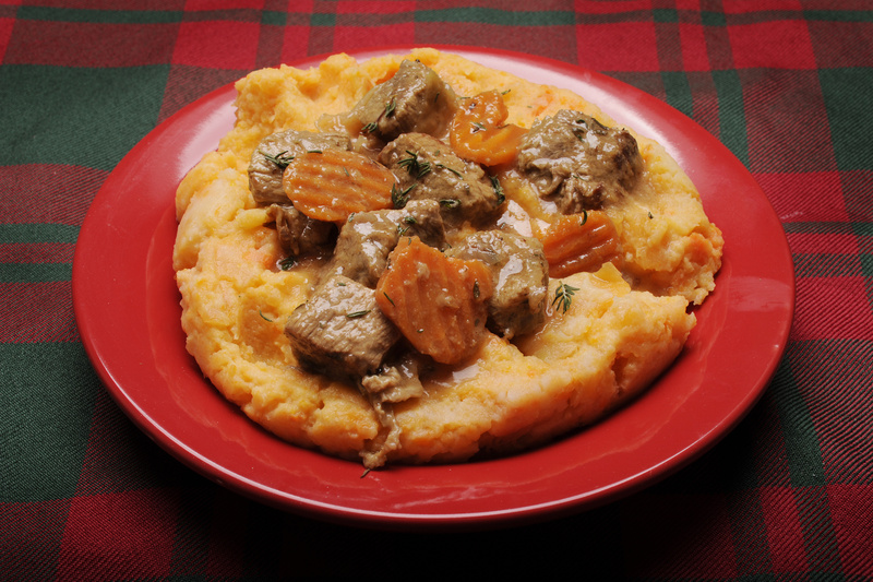"Mary Drymon's new book, ""Scotch-Irish Foodways in America,"" includes many recipes that will be familiar and others . . . not so much. Pictured here is a serving of stump – a hearty puree of potatoes, rutabagas and carrots – topped with venison."