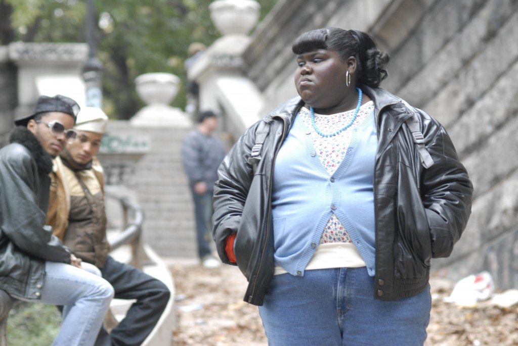 "Gabourey Sidibe in a scene from ""Precious."" The film is nominated for an Oscar for best picture."