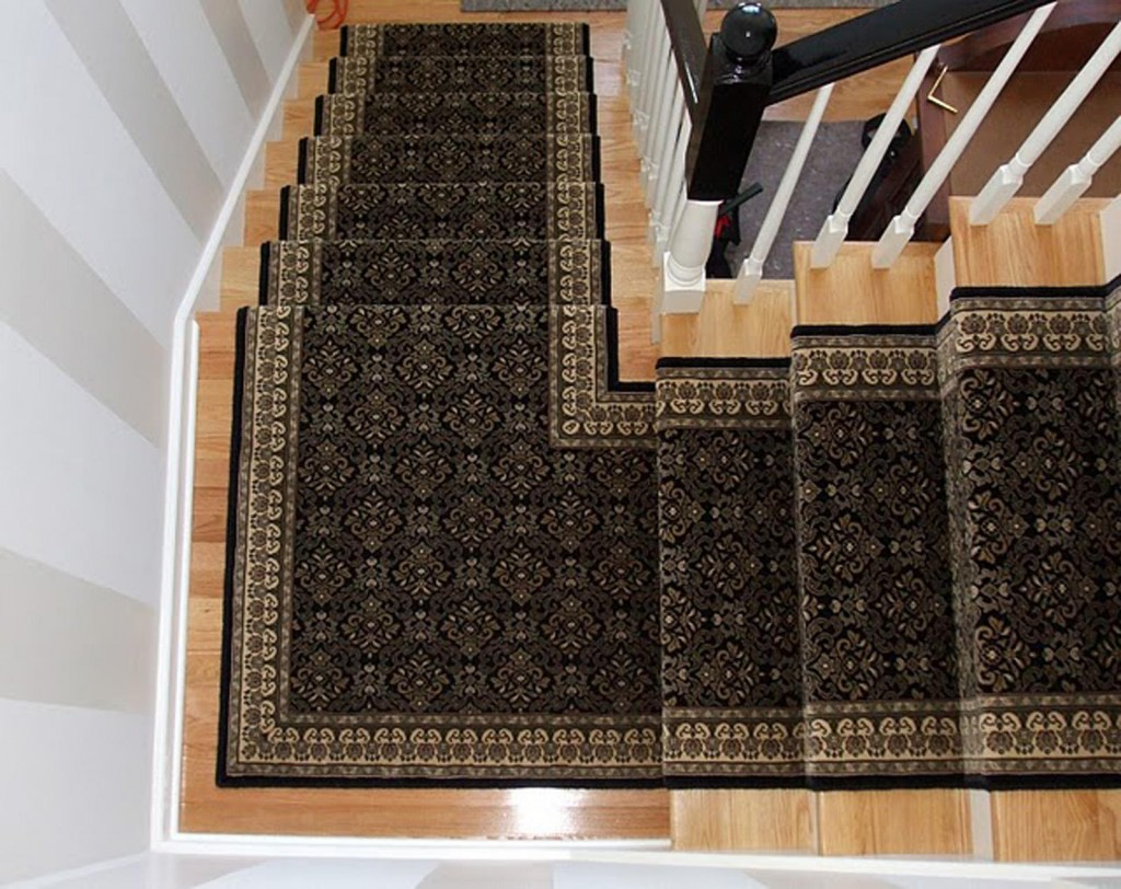 A stair runner can add color, texture and pattern to a space. And the carpeting can cut down on noise and provide a safer walking – or in the case of kids, running – surface.