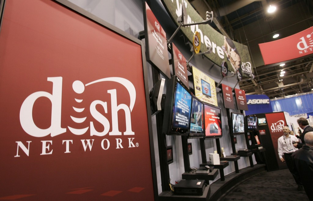 A Dish Network booth at the Consumer Electronics Shows in Las Vegas.