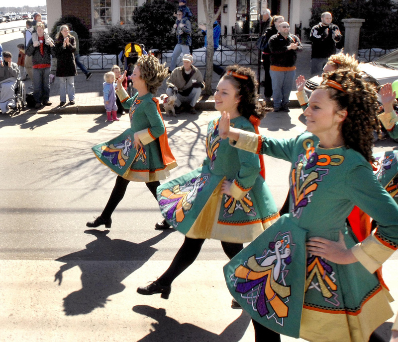 Stillson School of Irish Dance members participated in last year's St. Patrick's Day parade along Commercial Street.