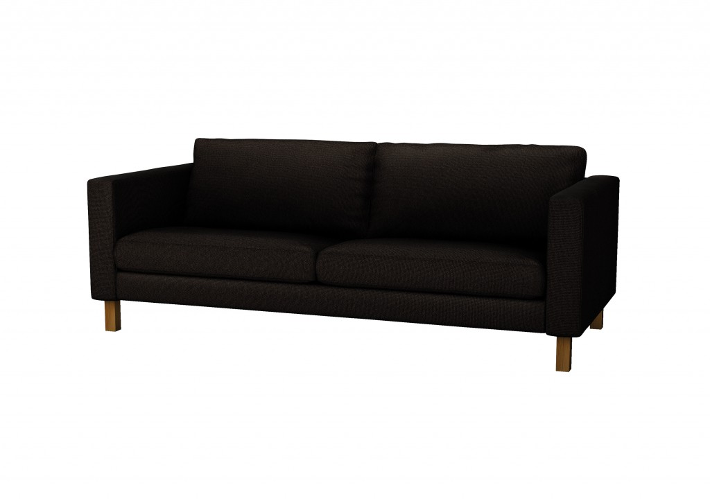 Ikea's Karlstad sofa, priced at $499, is 81 inches wide and requires assembly by the buyer. Removable, machine-washable slipcovers come in 11 colors.