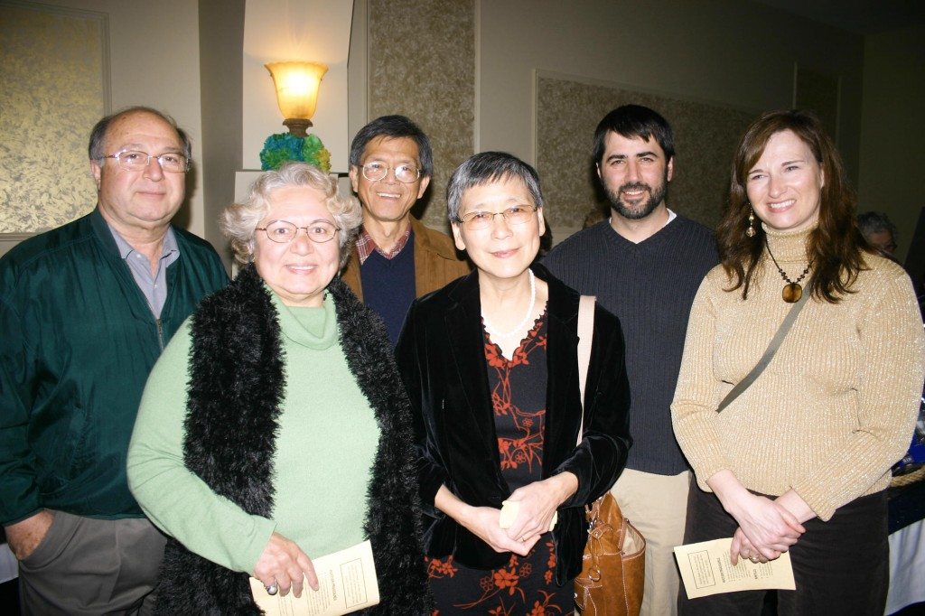 Mustafa Guvench, Serpil Guvench and Ahkau Ng of USM, Sally Ng of L'Ecole Francaise du Maine, Victor Serio of the Portland Schools and Renee Serio of the Portland Schools.