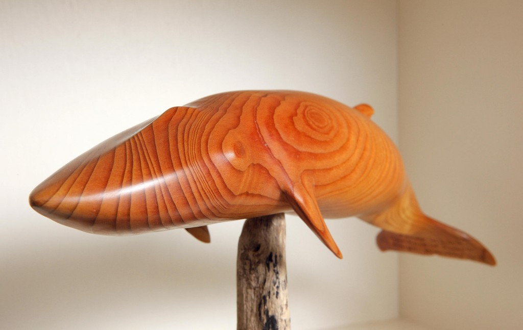 """Wayne Robbins says each piece he carves is influenced by the wood he chooses and by a piece's particular characteristics. """"You can see the grain, you can see the direction and the knife will tell you. The knife talks to you."""""""