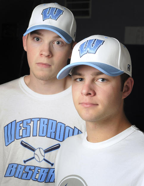 Sean Murphy, left, and Scott Heath already have proven their talent for Westbrook, and now will seek to help the Blazes do something they haven't achieved in nearly 60 years – win a state title.
