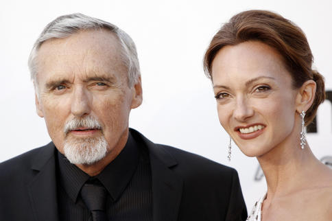 Dennis Hopper and his wife, Victoria Duffy Hopper.
