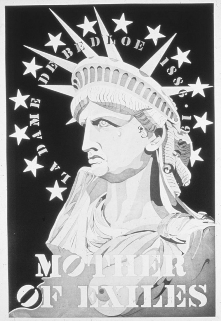 "Robert Indiana's 1986 etching """"Mother of Exiles,"""" from ""Vinalhaven Press"" at June Fitzpatrick Gallery at MECA"