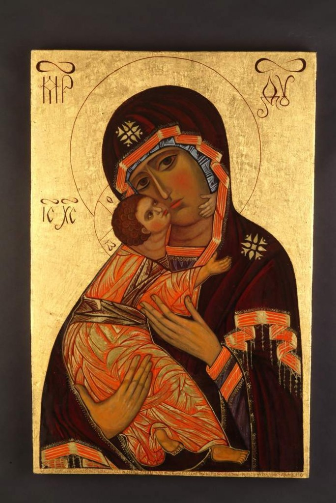 """Mother-of-God-of-Vladimir"" by Marina Forbes, who will lead a workshop, ""The Art of Icon Painting,"" at the York Art Association."