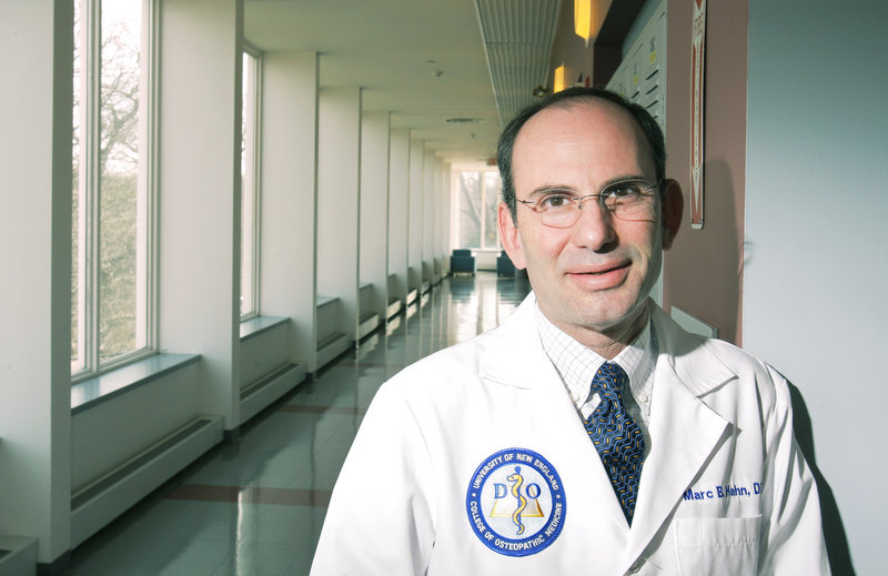 Dr. Marc Hahn, D.O., is dean of the University of New England's College of Osteopathic Medicine.