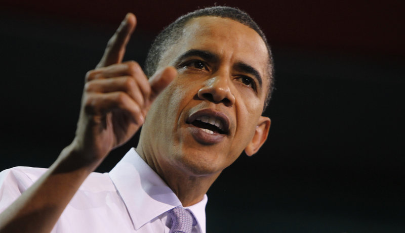 President Obama speaks about health care reform Thursday at the University of Iowa in Iowa City, Iowa. He will visit the Portland area and Boston next Thursday.