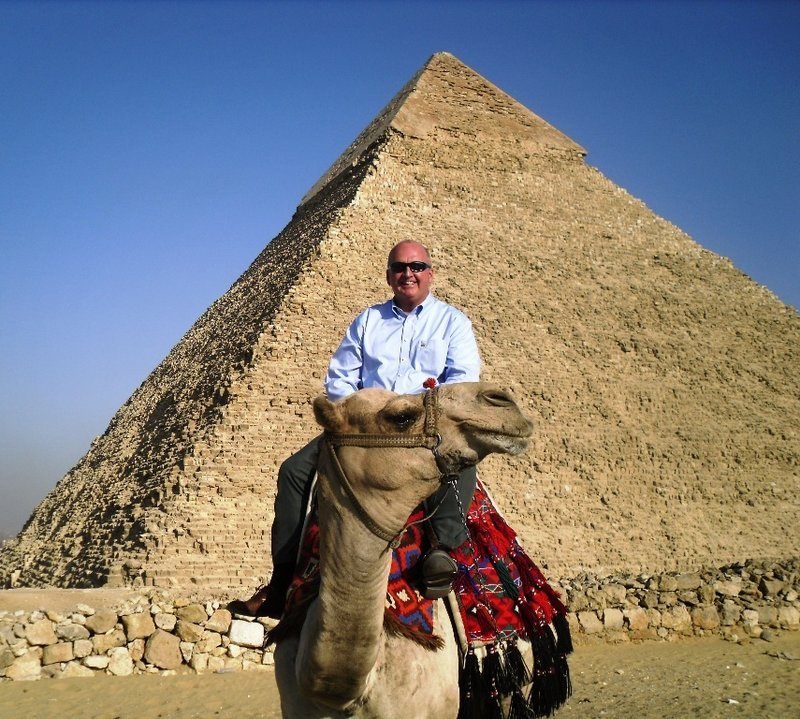 Westbrook Police Chief William Baker sees the sights in Egypt, where he recently presented a three-day workshop on international police standards.