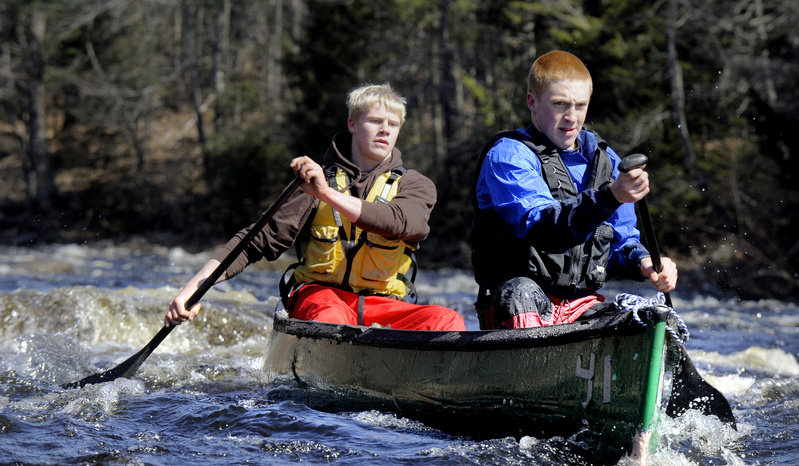 River Robertson of Bucksport and Tyler Albee of East Orland were the top racers in the high school class. They finished 21st overall in the annual St. George contest.