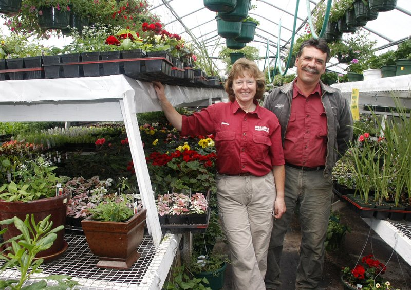 Claudia and Peter Risbara of Risbara's in Portland have a number of events planned for Saturday. About 30 garden centers around Maine will be participating in Maine Greenhouse and Nursery Day with special events, deals and more.