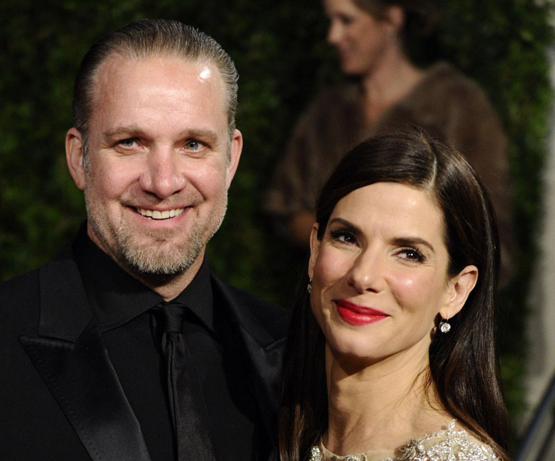 In this March 7, 2010, photo, Sandra Bullock and Jesse James arrive at a party in West Hollywood, Calif.