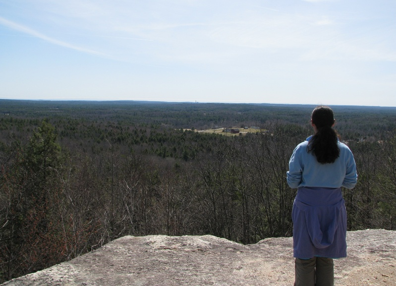 A view from the summit of Bradbury Mountain.