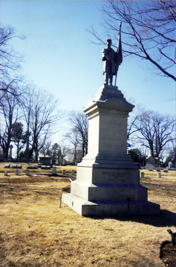 This Civil War monument, erected in 1895 in Portland's Evergreen Cemetery, is among nearly 150 Maine monuments pictured on the site.