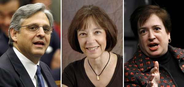 It is widely believed that the leading candidates to replace Justice Stevens are, from left: federal appellate Judges Merrick Garland, 57, and Diane Wood, 59, and Solicitor General Elena Kagan, 49.