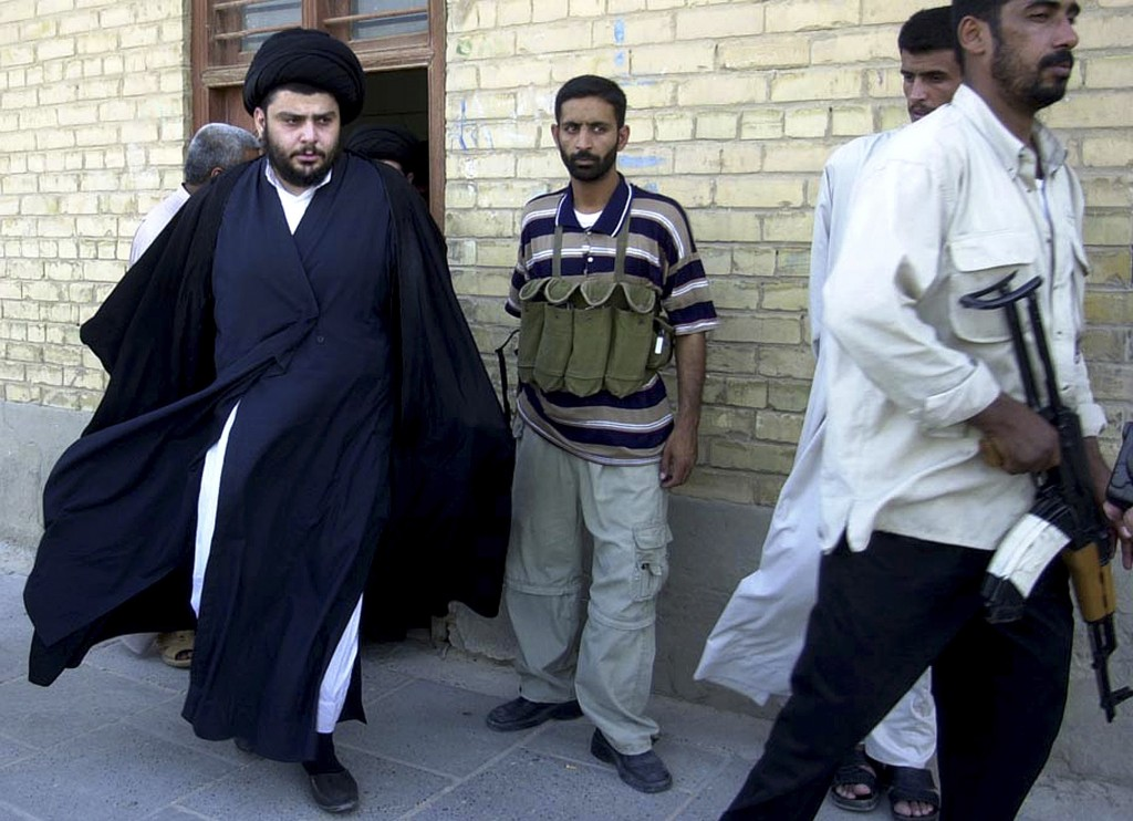 Muqtada al-Sadr, left, known for his anti-American views, is a growing political force in Iraq.